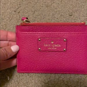 Gently worn Kate spade mini pink wallet